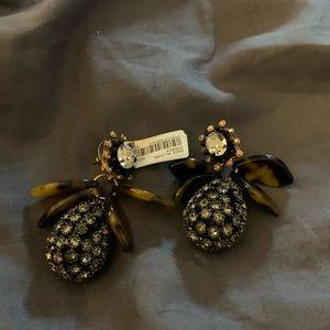 """J Crew """"pineapple"""" rhinestone earrings NWT"""